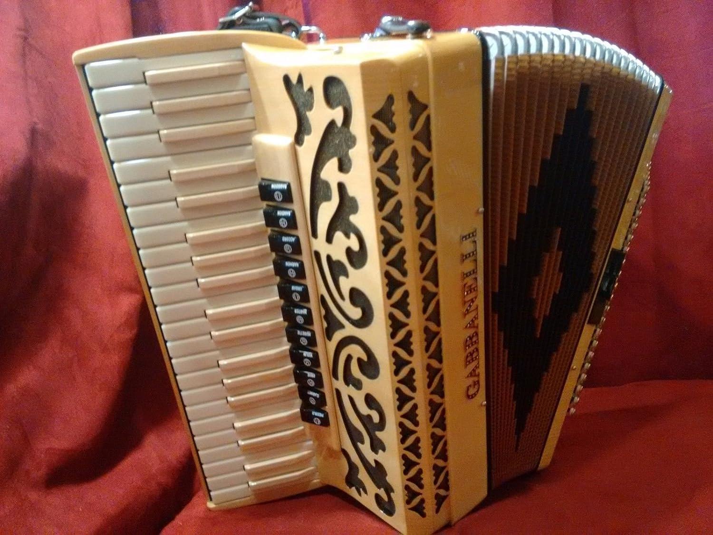 Blonde madera Gabbanelli Piano acordeón 41 120 lmmh ...