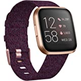 KIMILAR Woven Band Compatible with Fitbit Versa/Fitbit Versa 2/Fitbit Versa Lite Edition, Large Small Woven Fabric Breathable