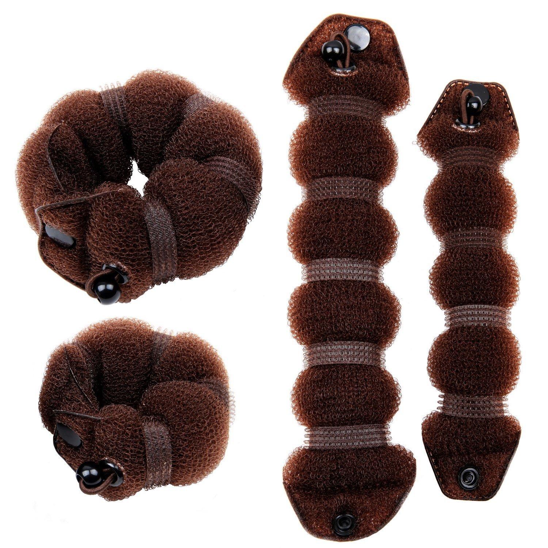 CareforYou chignon per acconciature magiche, accessorio per chignon con ciambella, bigodino grande e piccolo per creare chignon