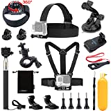 Luxebell Accessories Kit for AKASO EK5000 EK7000 4K WIFI Action Camera Gopro Hero 6 5/Session 5/Hero 4 3 2 1 DBPOWER Apeman Xiaomi Yi