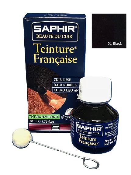 Saphir - Betún y reparación de zapatos , Negro (negro 01), 2 L