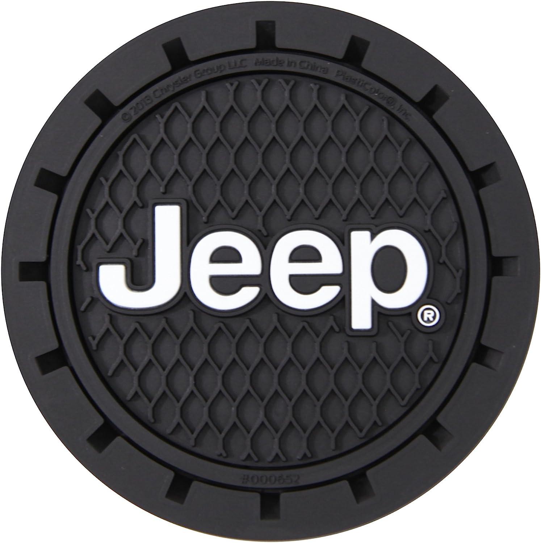 Plasticolor 000652R01 Jeep Logo Auto Car Truck SUV Cup Holder Coaster 2-Pack