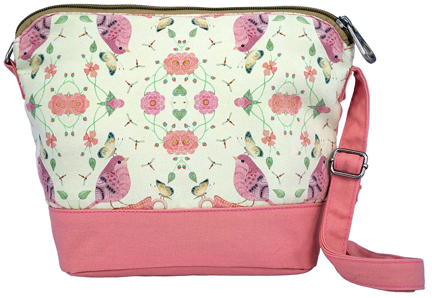 e3fff75d0 Crest Design Cute Canvas Crossbody Bag Shoulder Bag Purse For Girl and  Teenage (Pink): Amazon.in: Clothing & Accessories