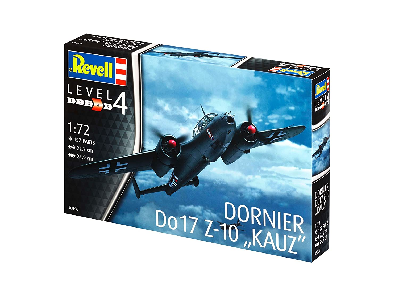 3933 03933 80-3933 Kit de Modelo Escala 1: 72 Revell- Dornier Do17 Z-10 Kauz