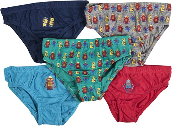 NUEVO niño 5 Pares Paquete 100% Algodón Rayas Calzoncillos infantil Ropa Interior Talla 2-13 AÑOS: Amazon.es: Ropa y accesorios