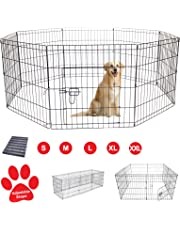 AVC Designs Pet Dog Pen Puppy Cat Rabbit Foldable Playpen Indoor/Outdoor Enclosure Run Cage (Medium: Height 76cm)