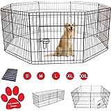 AVC Designs Pet Dog Pen Puppy Cat Rabbit Foldable Playpen Indoor/Outdoor Enclosure Run Cage (Small: Height 61cm)