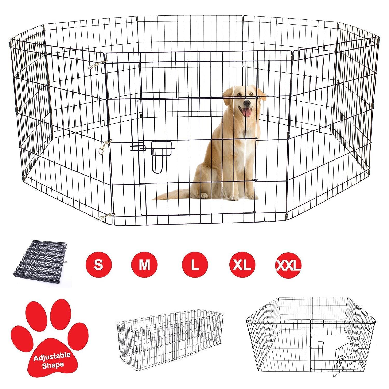 AVC Designs Pet Dog Pen Puppy Cat Rabbit Foldable Playpen Indoor/Outdoor  Enclosure Run Cage (Small: Height 61cm): Amazon.co.uk: Pet Supplies