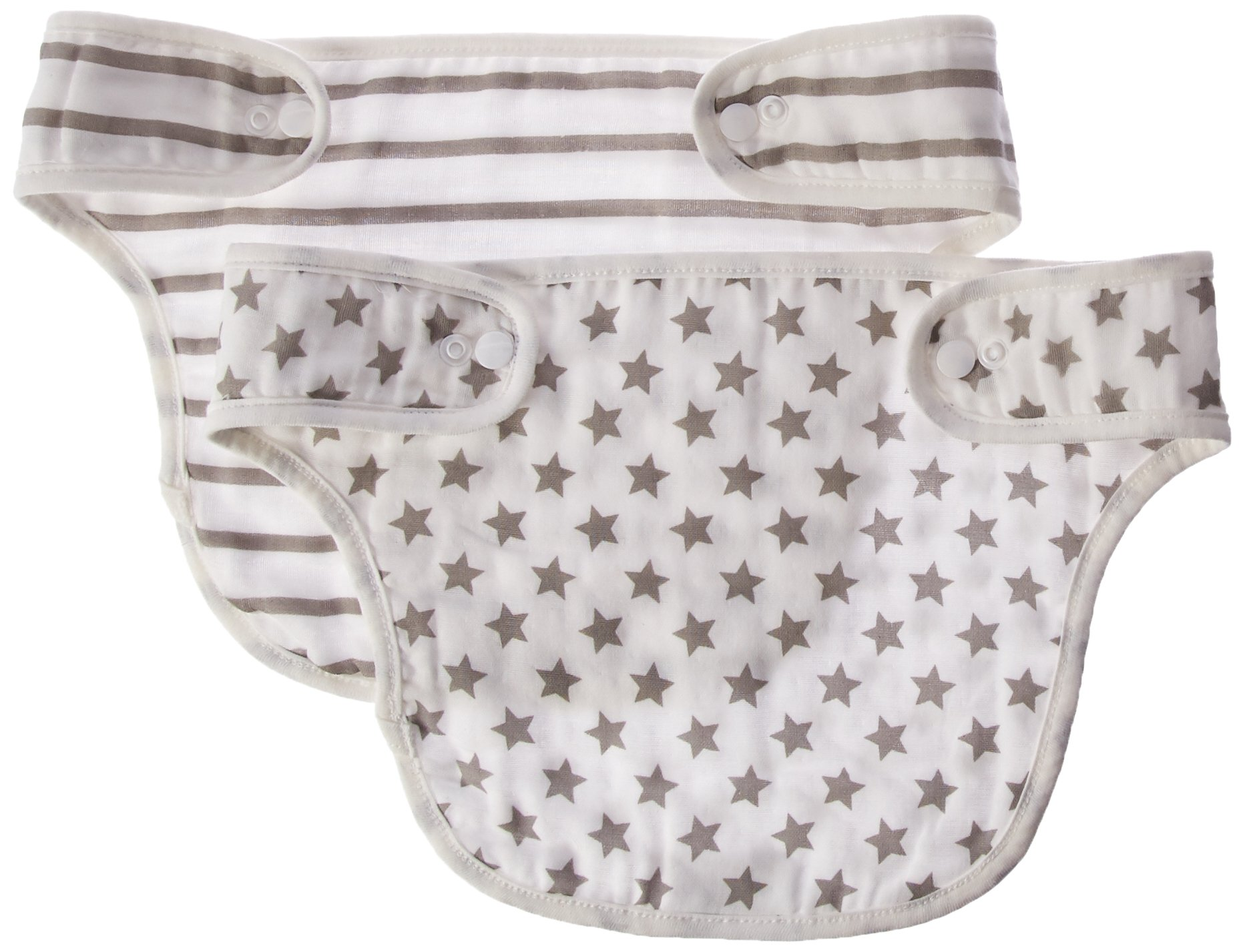 Baby Preferred Ergo, Babybjorn, lillebaby drool pads for teething baby in carrier, Ergobaby Easy Snug Infant Drool Bib 2-in-1 Sun Shade 6 Layer Protection Burping Cloths Design - Stars & Stripes