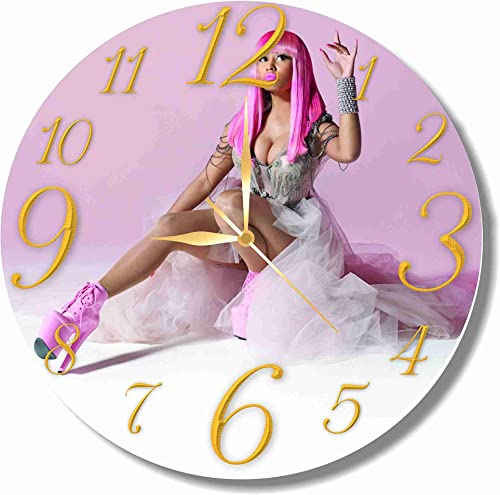 Nicki Minaj 11.8 Handmade Wall Clock – Get unique d cor for home or office Best gift ideas for kids, friends, parents and your soul mates