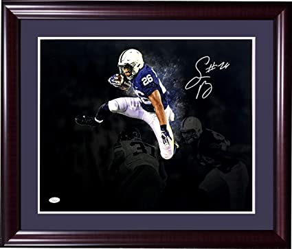 6ab276c9f0e Saquon Barkley signed 16x20 Penn State photo framed Giants Rookie auto JSA  COA at Amazon's Sports Collectibles Store