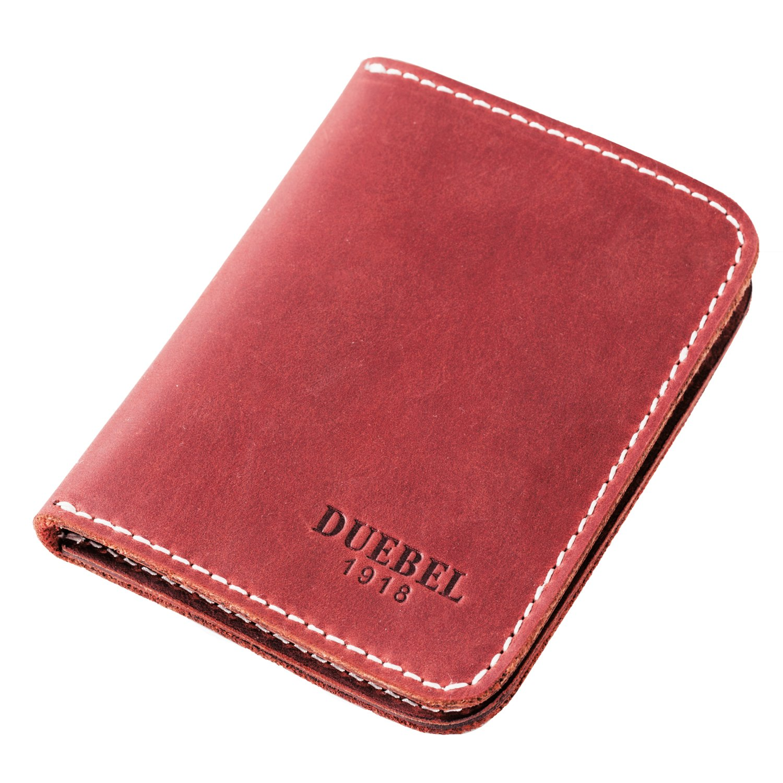 DUEBEL Full-grain Genuine Leather Slim Front Pocket Wallets, Minimalist Thin Card Holder, Card Case Wallet