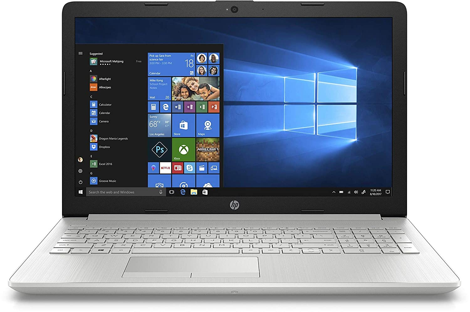 HP 15 Ryzen R3 15 6-inch Full HD Laptop (4GB/1TB HDD/Windows 10 Home/Vega 3  Graphics/MS Office/Natural Silver/2 04 kg), 15-db0186AU