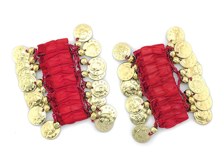 28d0140326ed48 MyBeautyworld24 Belly Dance Lot de 2 bracelets avec pièces dorées   Amazon.fr  Bijoux