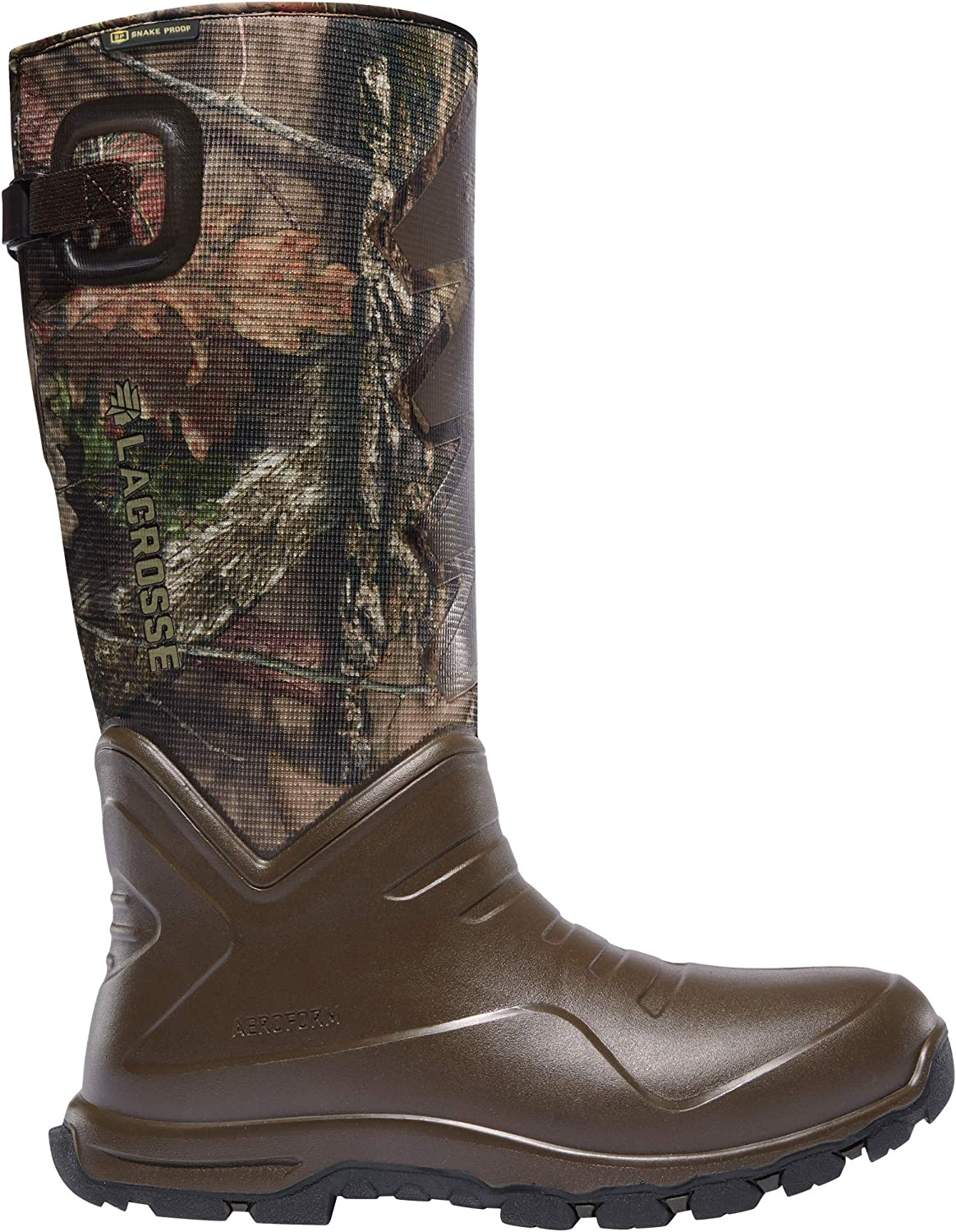 "LaCrosse Men's Aerohead Sport Snake Boot 17"" Mossy Oak Break-up Country Hunting Shoes"