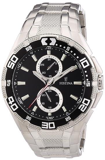 Festina F16663/2 - Reloj analógico de cuarzo para hombre, correa de acero inoxidable