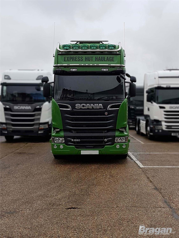 A ajuste Scania Streamline esquina Deflector pulido acero inoxidable cromo Recorta: Amazon.es: Coche y moto