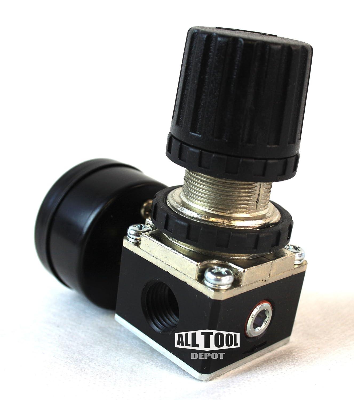 1//4 MINI REGULATOR W// GAUGE FOR COMPRESSOR COMPRESSED AIR PRESSURE
