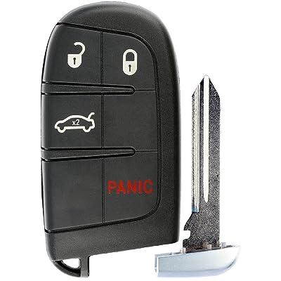 KeylessOption Keyless Entry Remote Car Smart Key Fob for Dodge Charger Challenger Dart Journey Chrysler 300 M3N-40821302: Automotive