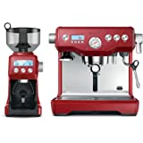 Breville BEP920CRN The Dynamic Duo Espresso Machine with Grinder, Cranberry
