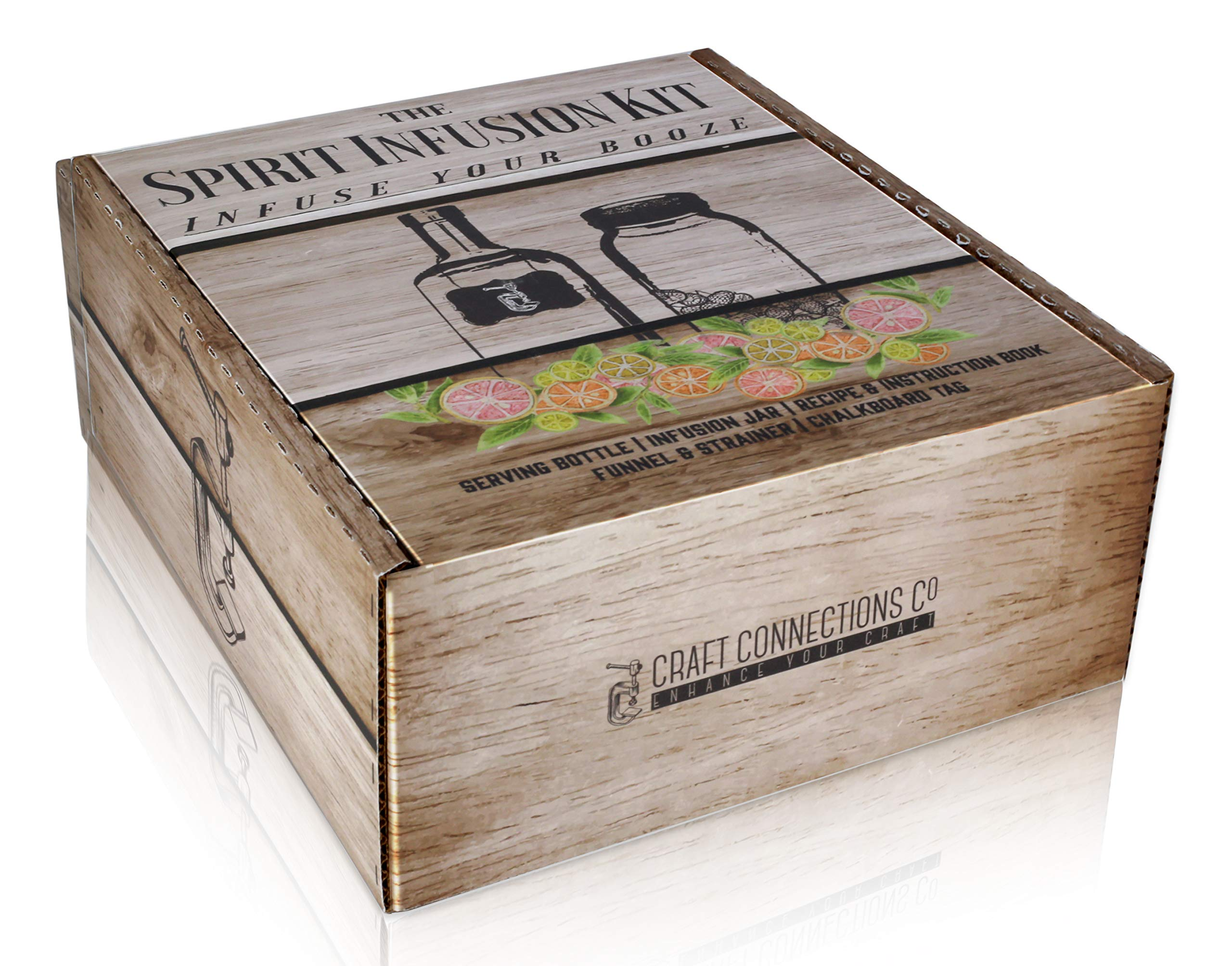 The SPIRIT INFUSION KIT - Infuse Your Booze! 70+ Homemade Flavored Vodka Recipes. Become an Infused Alcohol Cocktail Mixologist using the 110pg Recipe and Instruction Book. Great Gift & Party Hit! by Craft Connections Co. (Image #6)
