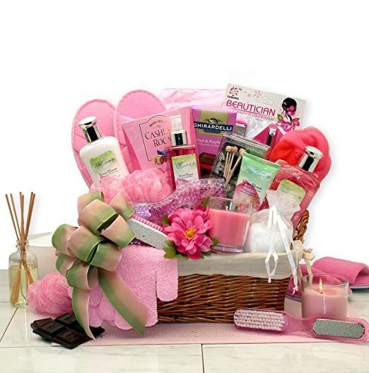 Womens Gift Sweet Blooms Spa Gift Basket