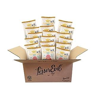 LesserEvil Buddah Bowl Organic Popcorn, Classic Cheddah, 0.88 Ounce (Pack of 18)