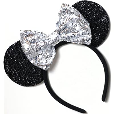 CL GIFT Silver Mickey Ears, Sparkly Mickey Ears, Silver Minnie Ears, Rainbow Ears, Minnie Ears, Rose Gold Mickey: Toys & Games