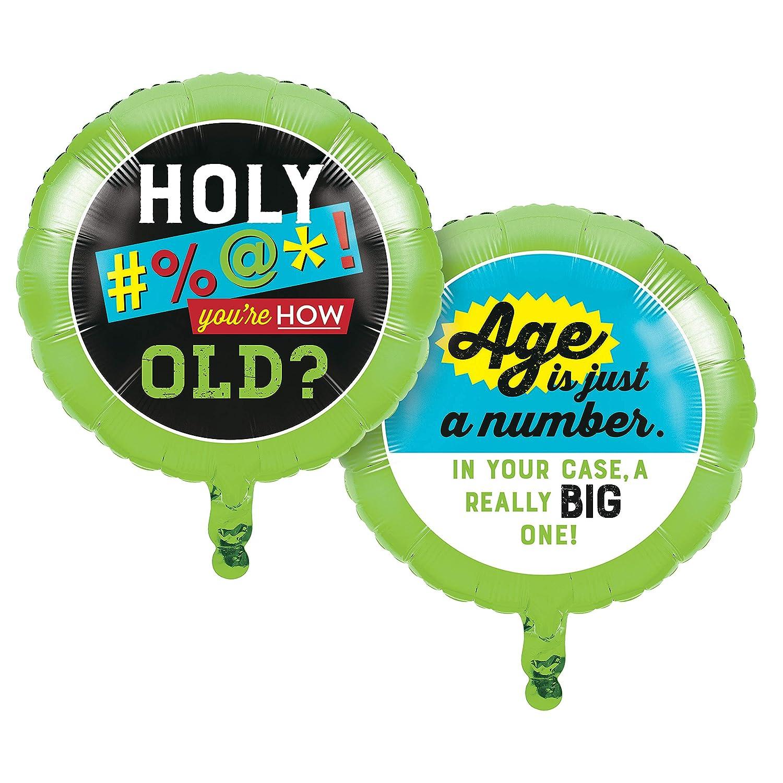 Multi-colored 18 Creative Converting 340181 Old Age Humor Mylar Balloon