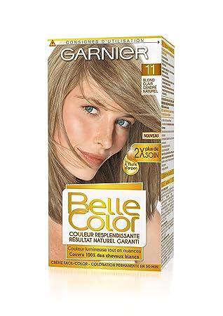 garnier belle color coloration permanente blond 11 blond clair cendr naturel lot de - Coloration Blond Clair