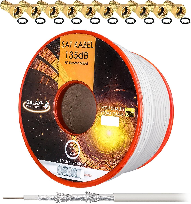 135dB Cable coaxial SAT de 25 m Cable coaxial de cobre puro ...