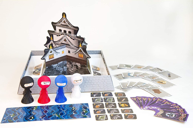 SUNLITE Flying Ninja Kids Table top Board Game, Trains Motor Skills and Focus