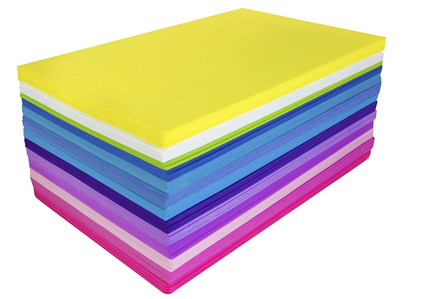 Fibre Craft Foam-Sheets 5-1/2-Inch-by-8-1/2-Inch 50-Pack, Bright Colors Notions - In Network 2781284