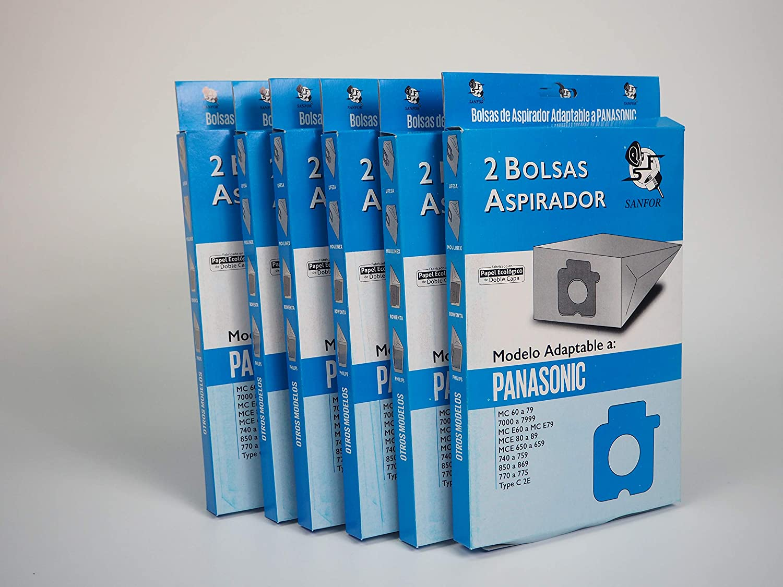 Sanfor 80670 Caja grande Bolsa aspirador PANASONIC Na-71, Papel ...
