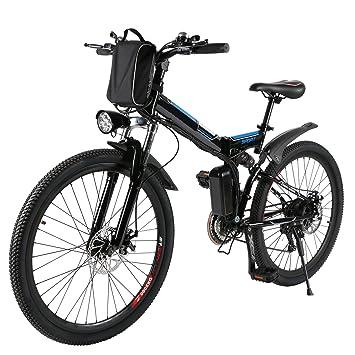 Befied Bicicleta Eléctrica de Montaña 26 inch Plegable con Bateria Litio 36 V 8AH Motor brushless