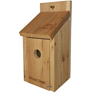 Bird House - Bluebird, Finch, Wren, Chickadee, Tree Swallow Bird, Wild Birds, Even a Woody Woodpecker House. Made in USA from All Natural Western Red Cedar. Add some life to your yard today!
