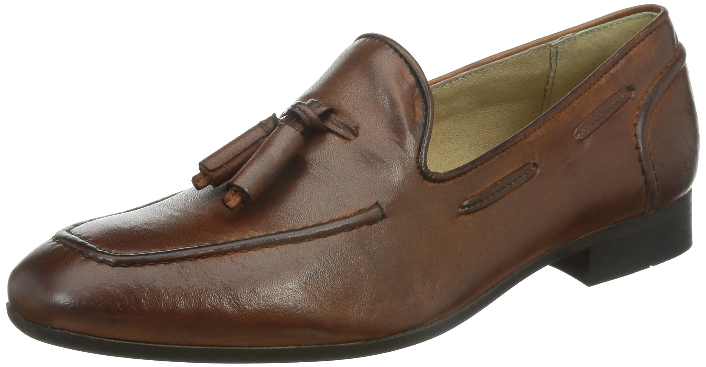 H by Hudson Men's Pierre Slip-On Loafer, Tan, 43 EU/10 M US