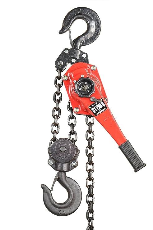 Pro-Lift-Montagetechnik 6000kg Kettenzug mit Arm, Ratschenzug, rot, T, 00937