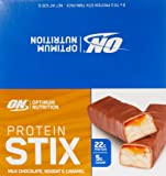 Optimum Nutrition Protein Stix Bars Nougat Caramel 70 Grams 9 Pack Protein Bars