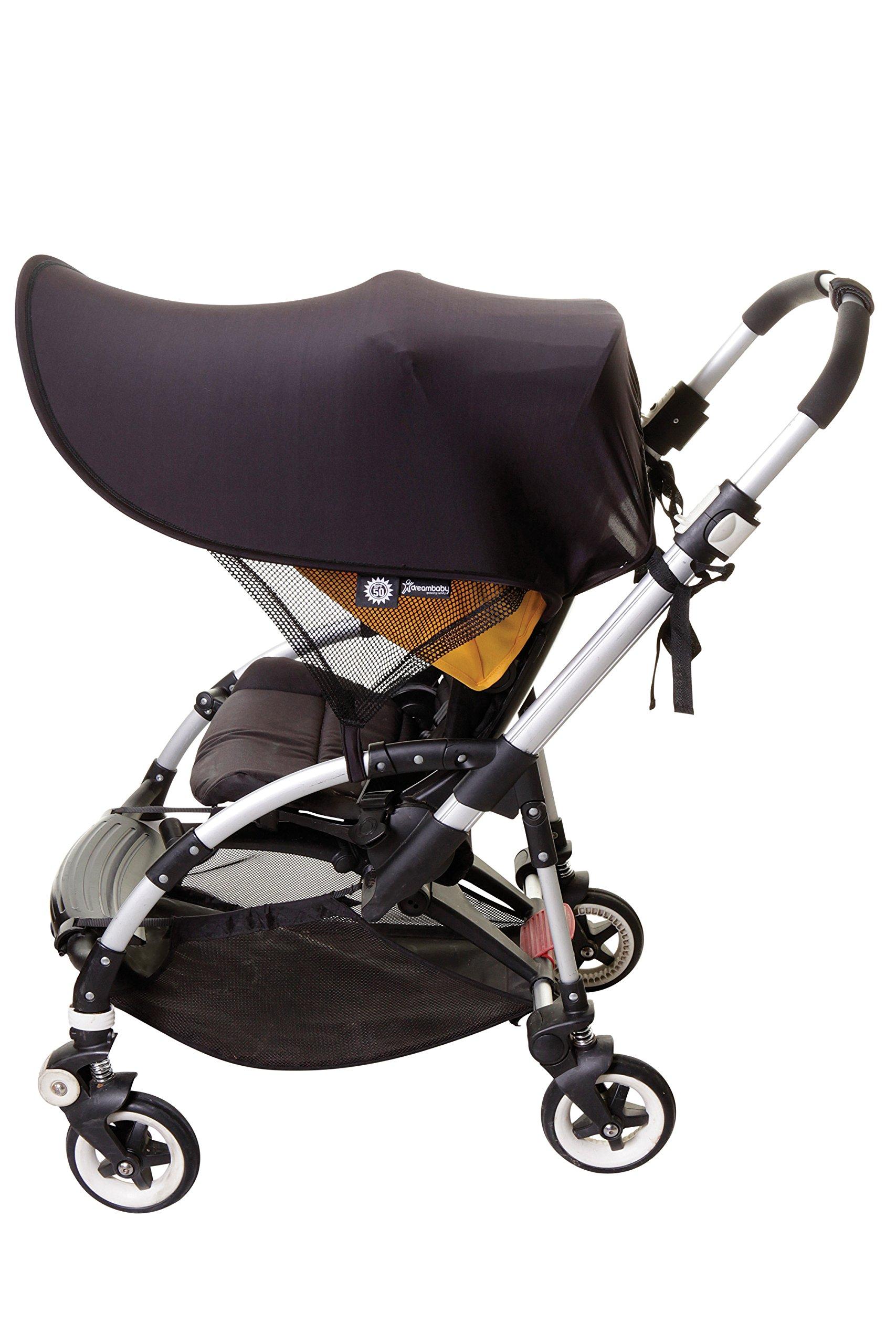 Dreambaby Strollerbuddy Extenda-Shade, Black, Large