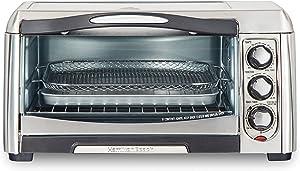 Hamilton Beach 31323 Sure-Crisp Air Fry Toaster Oven, 6 Slice Capacity, Stainless Steel (Renewed)