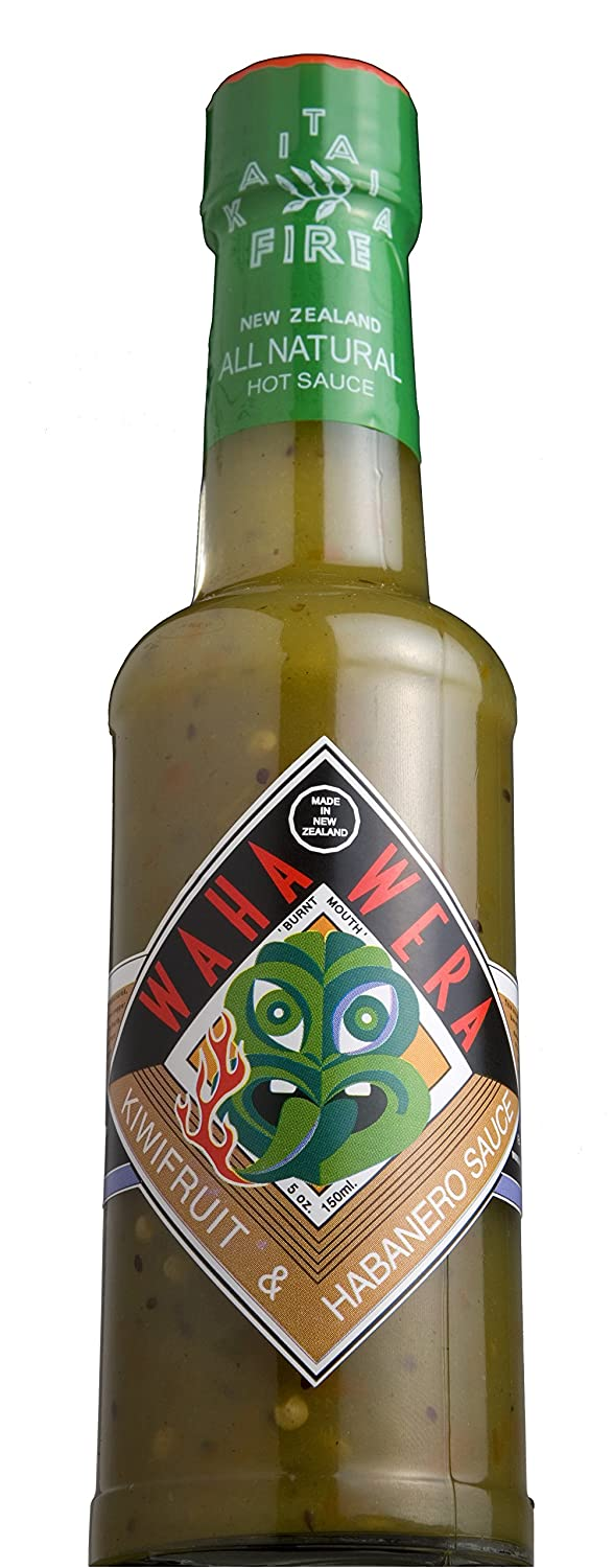 New Zealand's Favorite Waha Wera Green Hot Sauce