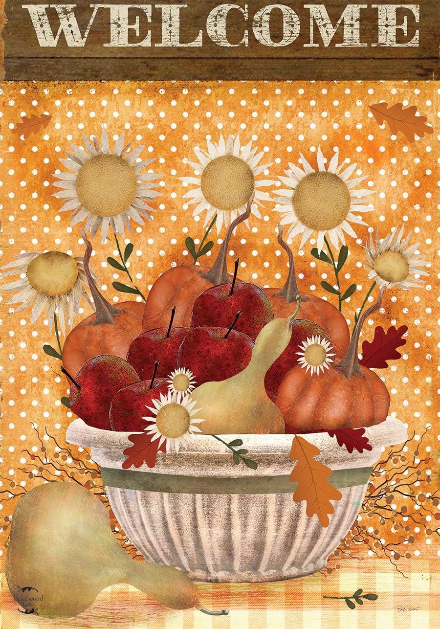 Briarwood Lane Harvest Bounty Autumn Garden Flag Primitive Welcome 12.5