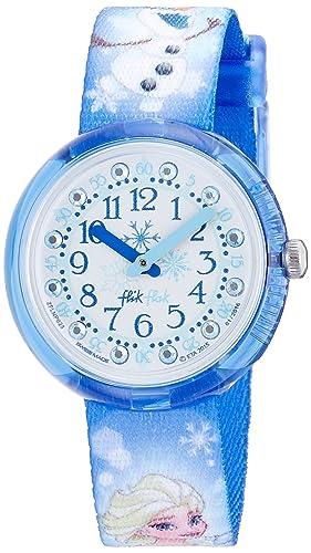 Flik Flak Reloj Análogo clásico para niñas de Cuarzo con Correa en Tela FLNP023: Amazon.es: Relojes