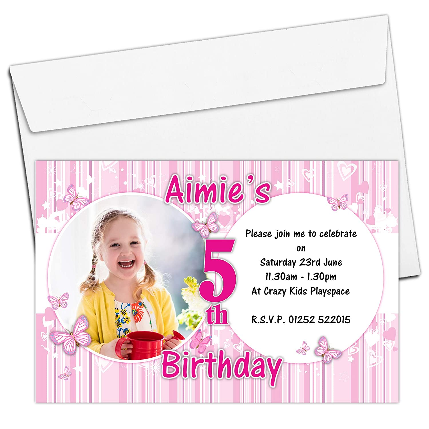 20 Personalised Trampoline Birthday Party Invitations Invites Boy or Girl Ref B61 4th 5th 6th 7th 8th 9th 10th 11th 12th 13th 14th Birthday