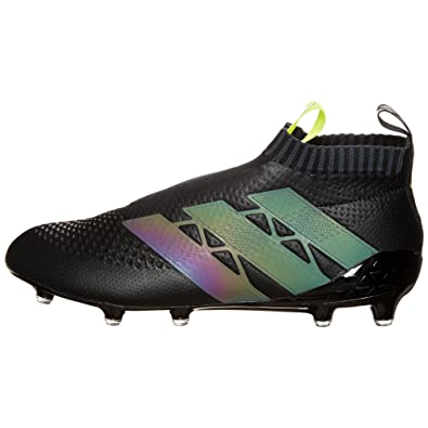adidas Ace 16 Purecontrol FG Soccer Cleats Core Black & Solar Yellow (10 D