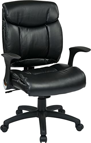 Office Star Padded Faux Leather Seat and Back Managers Chair