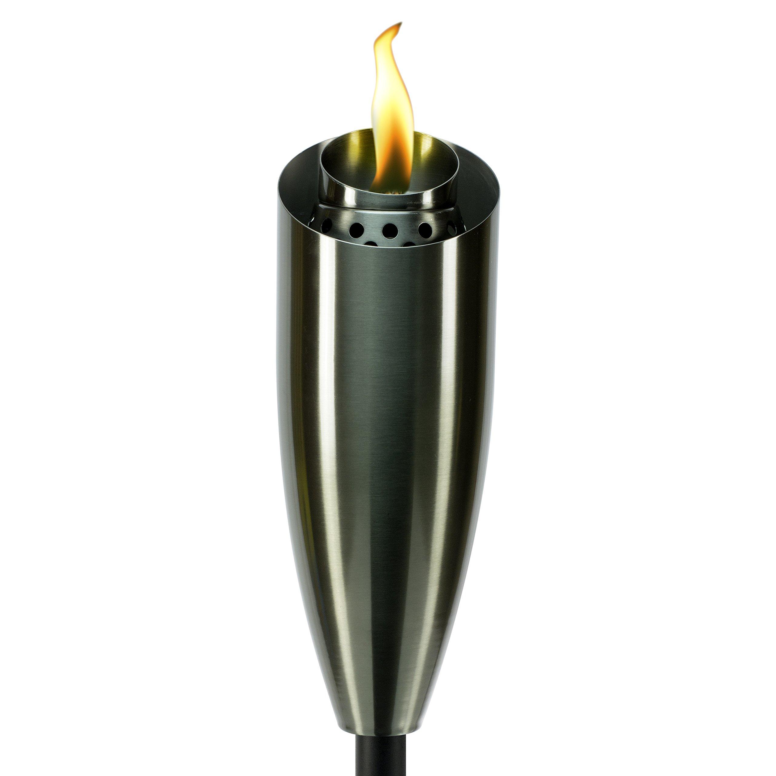 Tiki 1117058 Stainless Steel Torch, 60'', Gun Metal