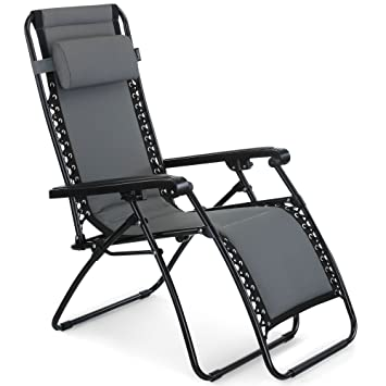 Excellent Vonhaus Oxford 600D Padded Zero Gravity Chair Outdoor Sun Lounger Recliner For Patio Garden Or Lawn Evergreenethics Interior Chair Design Evergreenethicsorg