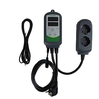 Inkbird ITC-308S Doble Rele 220v Controlador de Temperatura, 2 Enchufe Refrigeración Calefaccion Termostato